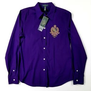 VTG Lauren Ralph Lauren Women's Button-Front Shirt